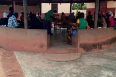 Apataman (wiata), pod którą odbywają się konsultacje dla rodziców małych dzieci - jak dbać o maluchy